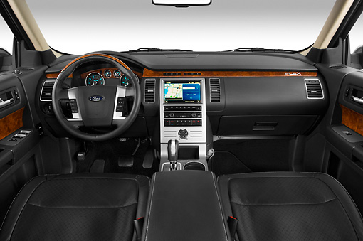 AUT 30 IZ0541 01 © Kimball Stock 2010 Ford Flex Limited Cinnamon/White Interior Detail Studio