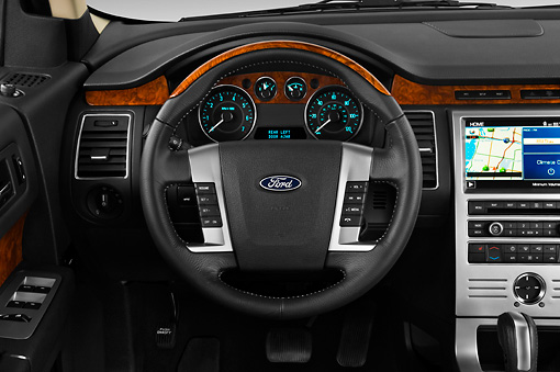 AUT 30 IZ0542 01 © Kimball Stock 2010 Ford Flex Limited Cinnamon/White Interior Detail Studio