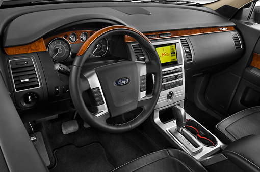 AUT 30 IZ0543 01 © Kimball Stock 2010 Ford Flex Limited Cinnamon/White Interior Detail Studio