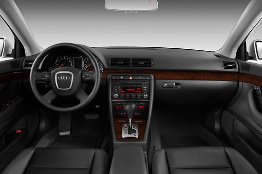 2008 Audi A4 Sedan Silver Interior Detail Studio Kimballstock