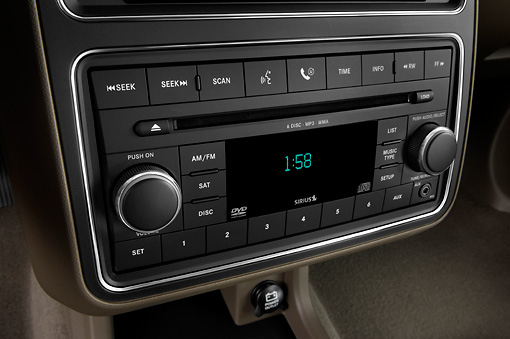AUT 30 IZ0697 01 © Kimball Stock 2010 Dodge Journey RT Gold Interior Detail Studio
