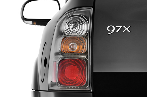 AUT 30 IZ0727 01 © Kimball Stock 2009 Saab 9-7X Aero Black Brake Light Detail Studio