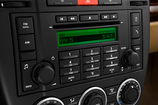 AUT 30 IZ0741 01 © Kimball Stock 2010 Land Rover LR2 HSE Blue Interior Detail Studio