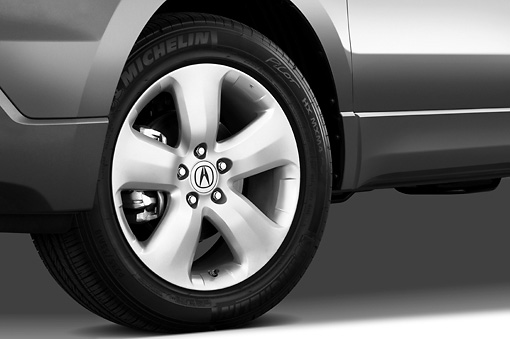 AUT 30 IZ0788 01 © Kimball Stock 2009 Acura RDX Gray Front Wheel Detail Studio