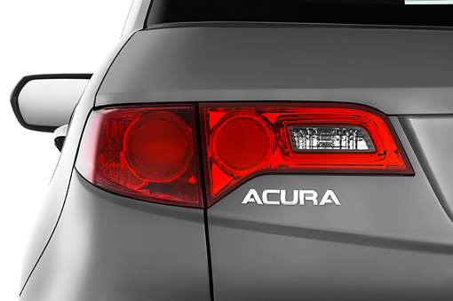 AUT 30 IZ0789 01 © Kimball Stock 2009 Acura RDX Gray Brake Light Detail Studio