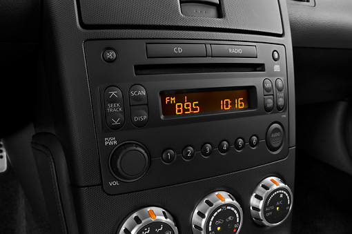 AUT 30 IZ0835 01 © Kimball Stock 2008 Nissan 350Z Nismo Red Interior Detail Studio