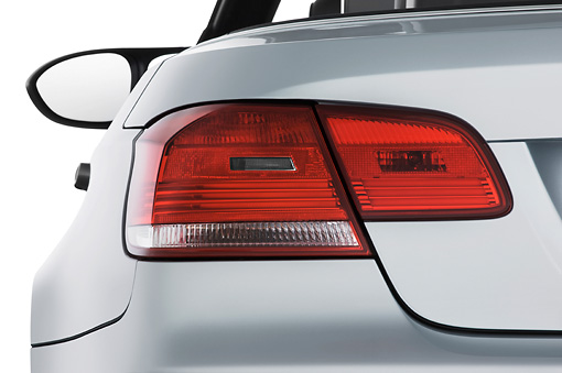 AUT 30 IZ0839 01 © Kimball Stock 2013 BMW M3 Convertible Silver Brake Light Detail Studio