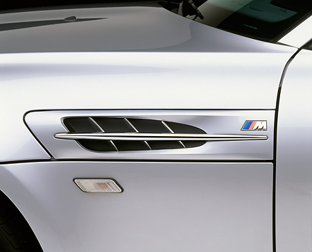 AUT 30 RK0247 04 © Kimball Stock 1999 BMW M Roadster Silver Detail Of Side Vent Studio