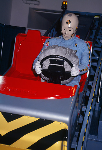 AUT 30 RK0276 01 © Kimball Stock Dummy Driving With Air Bag