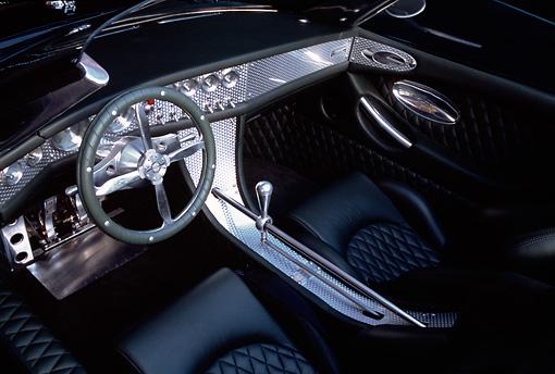 2001 Spyker C8 Spyder Black Detail Interior Studio | Kimballstock