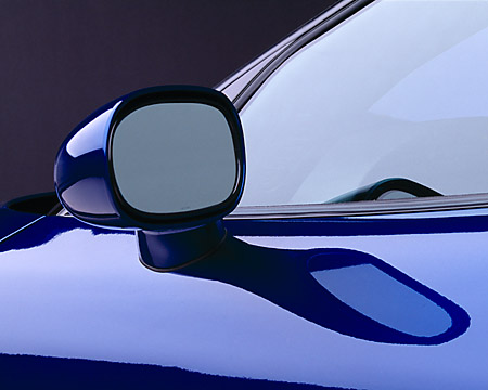 AUT 30 RK1013 03 © Kimball Stock 2002 Corvette Z06 Blue Detail Side Rear Window