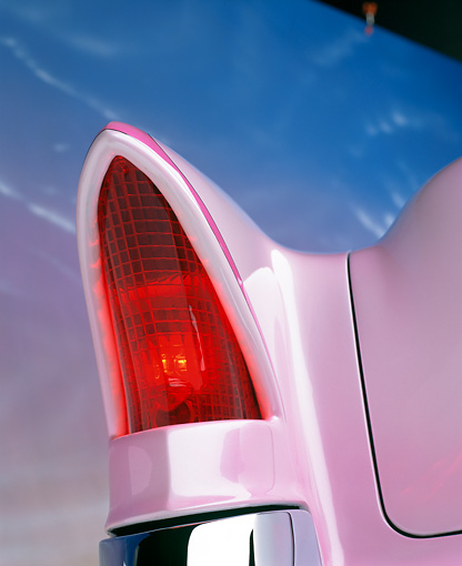 AUT 30 RK1070 12 © Kimball Stock 1956 Packard Convertible Custom Pink Detail Rear Lights