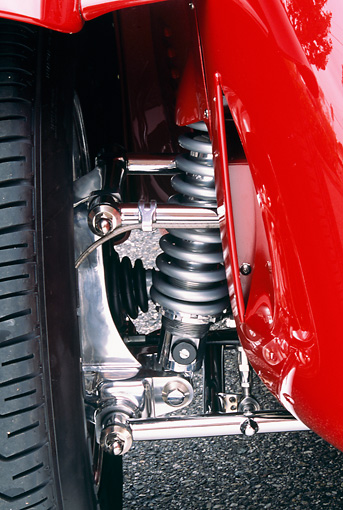 AUT 30 RK1117 02 © Kimball Stock 2002 Torpedo Roadster Red Detail