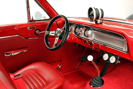 AUT 30 RK2452 01 © Kimball Stock 1964 Ford Thunderbolt Detail Interior Shot