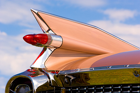 AUT 30 RK3328 01 © Kimball Stock 1959 Cadillac Tail Fin Detail