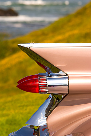 AUT 30 RK3331 01 © Kimball Stock 1959 Cadillac Tail Fin Detail