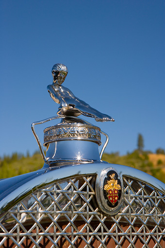 AUT 30 RK3373 01 © Kimball Stock 1929 Packard Hood Ornament