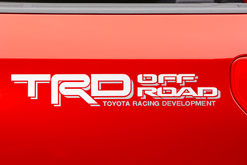 AUT 30 RK3708 01 © Kimball Stock 2007 Toyota Tundra TRD Off Road Red Detail Seamless Studio