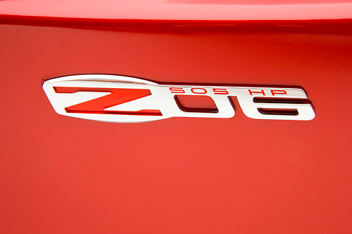 AUT 30 RK4305 01 © Kimball Stock 2008 Chevrolet Corvette 427 Limited Edition Z06 Coupe Red Badge Detail Studio