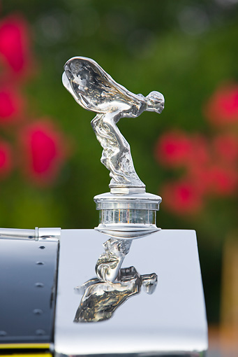 AUT 30 RK4408 01 © Kimball Stock 1931 Rolls-Royce Phantom II Hood Ornament Detail