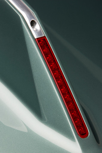 AUT 30 RK4456 01 © Kimball Stock 2008 Alfa Romeo Bertone B.A.T. 11 DK Tuscan Green Brake Light Detail Studio