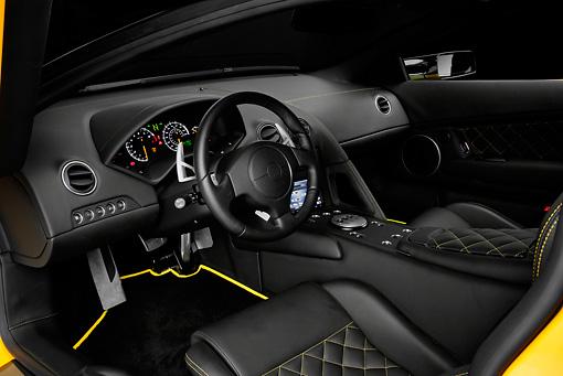 2008 Lamborghini Murcielago Lp640 Yellow Interior Detail Studio