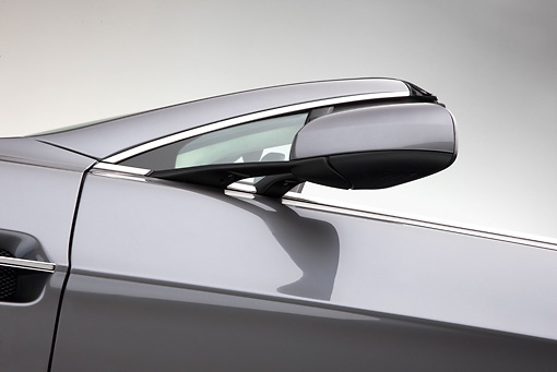 AUT 30 RK4585 01 © Kimball Stock 2009 Aston Martin Vantage Roadster Gray Side Mirror Detail Studio
