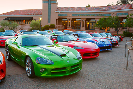 AUT 31 RK0119 01 © Kimball Stock A Group Of Dodge Vipers At Blackhawk Museum