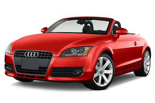 AUT 43 IZ0010 01 © Kimball Stock 2010 Audi TT Roadster Red 3/4 Front View Studio