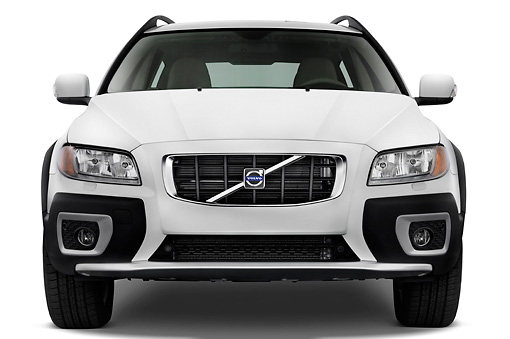 AUT 43 IZ0099 01 © Kimball Stock 2010 Volvo XC70 White Head On View Studio
