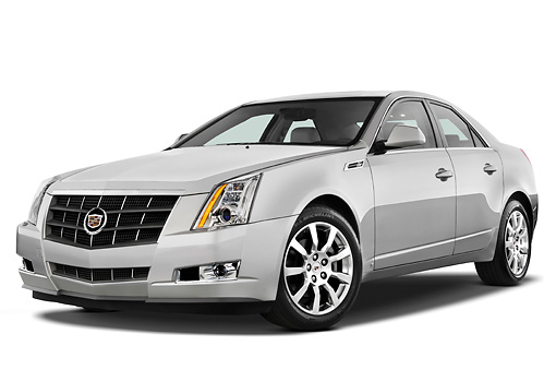 AUT 43 IZ0140 01 © Kimball Stock 2013 Cadillac CTS Silver 3/4 Front View Studio