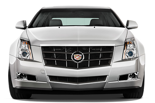 AUT 43 IZ0141 01 © Kimball Stock 2013 Cadillac CTS Silver Head On View Studio