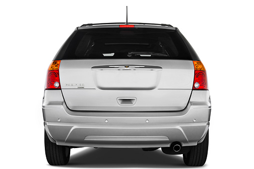 AUT 43 IZ0162 01 © Kimball Stock 2008 Chrysler Pacifica Silver Rear View Studio