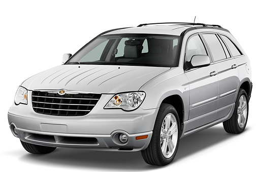 AUT 43 IZ0164 01 © Kimball Stock 2008 Chrysler Pacifica Silver 3/4 Front View Studio