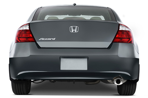 AUT 43 IZ0183 01 © Kimball Stock 2010 Honda Accord Coupe Rear View Studio