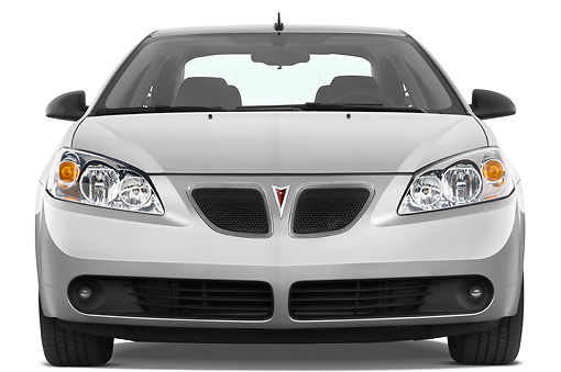 AUT 43 IZ0291 01 © Kimball Stock 2010 Pontiac G6 Silver Head On View Studio