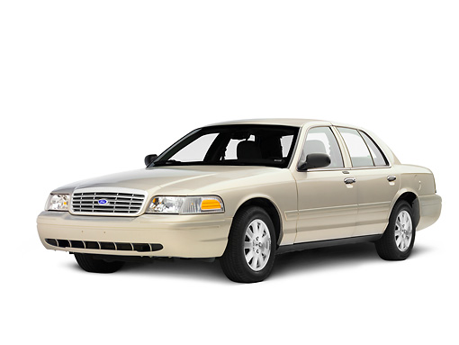 AUT 43 RK0309 01 © Kimball Stock 2008 Ford Crown Victoria Cream 3/4 Front View Seamless Studio