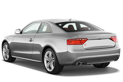 AUT 44 IZ0094 01 © Kimball Stock 2011 Audi S5 Coupe Gray 3/4 Rear View Studio