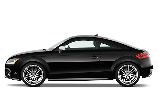 AUT 44 IZ0118 01 © Kimball Stock 2010 Audi TTS Coupe Black Profile View Studio