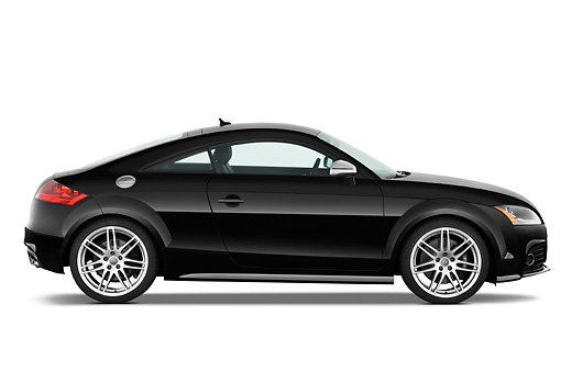 AUT 44 IZ0119 01 © Kimball Stock 2010 Audi TTS Coupe Black Profile View Studio