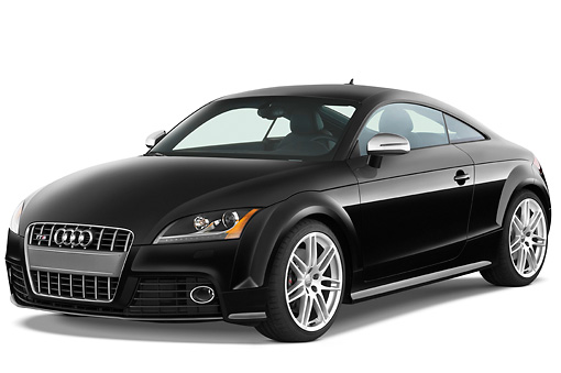 AUT 44 IZ0120 01 © Kimball Stock 2010 Audi TTS Coupe Black 3/4 Front View Studio