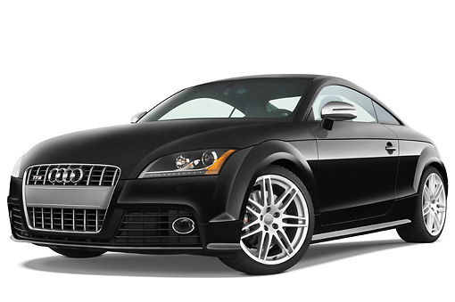 AUT 44 IZ0122 01 © Kimball Stock 2010 Audi TTS Coupe Black 3/4 Front View Studio