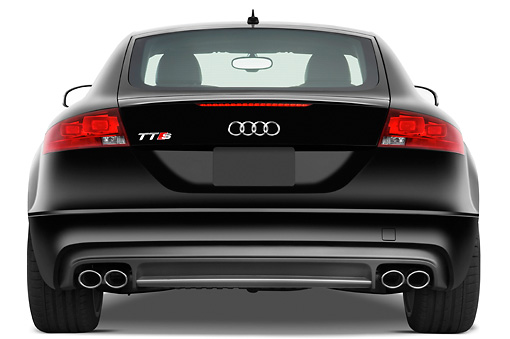 AUT 44 IZ0124 01 © Kimball Stock 2010 Audi TTS Coupe Black Rear View Studio