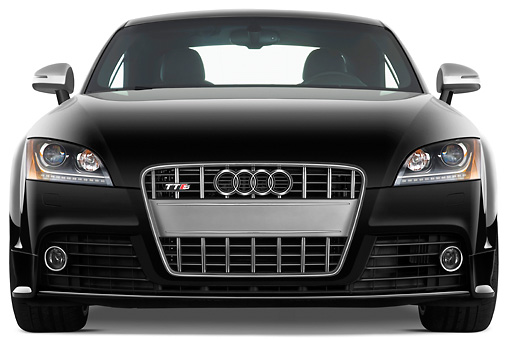 AUT 44 IZ0125 01 © Kimball Stock 2010 Audi TTS Coupe Black Front View Studio