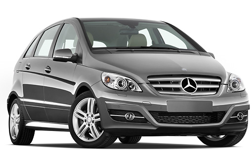 AUT 44 IZ0239 01 © Kimball Stock 2011 Mercedes-Benz B Class 3/4 Front View Studio
