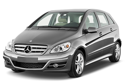 AUT 44 IZ0240 01 © Kimball Stock 2011 Mercedes-Benz B Class 3/4 Front View Studio