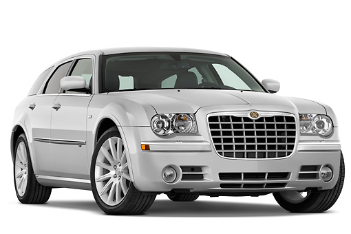 AUT 44 IZ0272 01 © Kimball Stock 2010 Chrysler 300 Wagon 3/4 Front View Studio