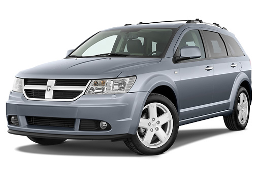 AUT 44 IZ0279 01 © Kimball Stock 2010 Dodge Journey RT Gray 3/4 Front View Studio