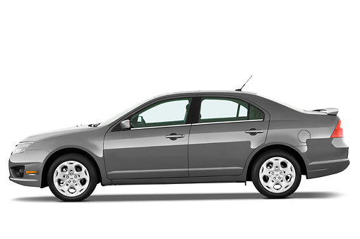 AUT 45 IZ0009 01 © Kimball Stock 2011 Ford Fusion SE Gray Profile View Studio