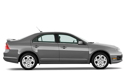 AUT 45 IZ0010 01 © Kimball Stock 2011 Ford Fusion SE Gray Profile View Studio